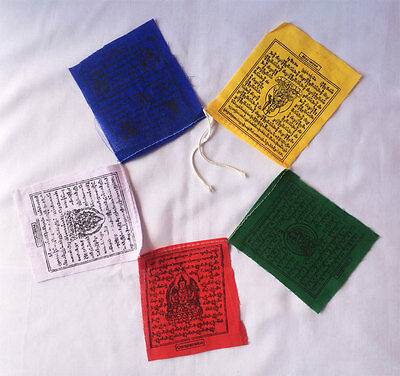 Tibetan Mantra Printed Small Size Cotton Prayer Taxi Flag