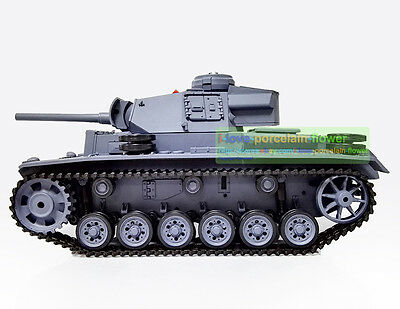 HengLong 1/16 German Ⅲ L RC Tank Plastic Version Smoke Airsoft Sound 3848