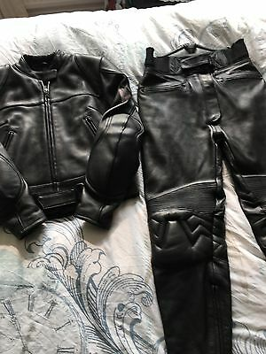 ladies Motorbike (Frank Thomas) Leather Jacket and Trousers