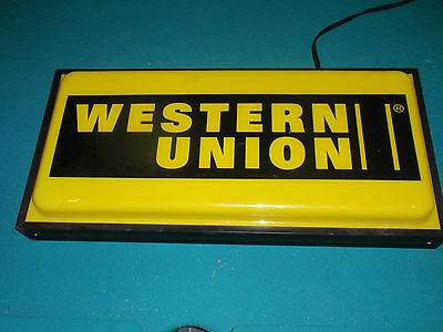 Western Union Lighted Sign - working condition Nice ali