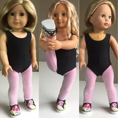 "Fits American Girl Our Generation 18"" Doll Clothes Exercise Outfit And Shoes"