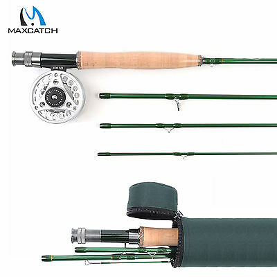 3/4/5/6/7/8/9WT Fly Fishing Combo Fast Action Carbon Fly Rod & Aluminum Fly Reel