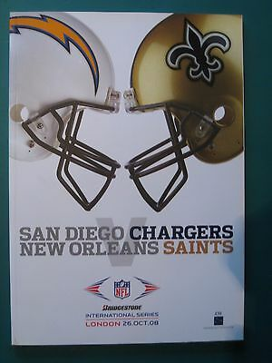 Nfl Wembley 2008 San Diego Chargers V New Orleans Saints *official Programme*