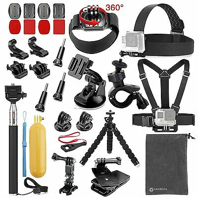 Vanwalk 20-in-1 Accessories Kit for Gopro HD Hero 5/4/3+/3/2/1 Camera Bundle Set