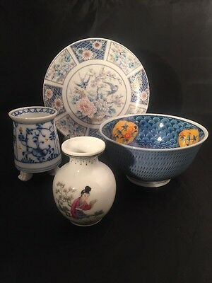 Oriental Items Chinese Japanese Plate Vase Bowl