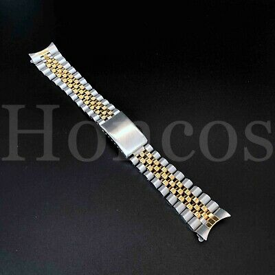 20MM President Jubilee Watch Band Bracelet Fits for Rolex Steel and Gold 2 Tones
