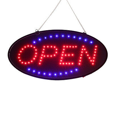 BRIGHT Oval LED Open Store Restaurant Business Light Sign neon switch USA Stock