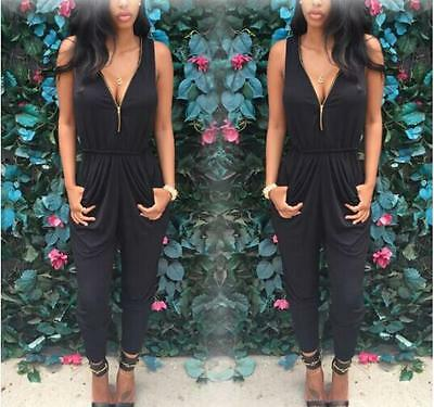 New Trousers Women Playsuit Bodycon Party V Neck Ladies Jumpsuit&Romper