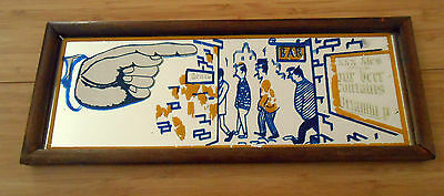RARE Vintage XXX Ale / Beer Mirrored Bar Sign