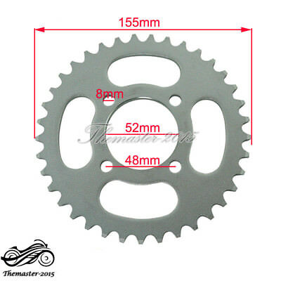 52mm 420 37T Rear Chain Sprocket Motorcycle For Chinese ATV Quad Pit Dirt Bike