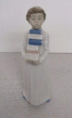 Nao Lladro Style Figurine Girl with Books