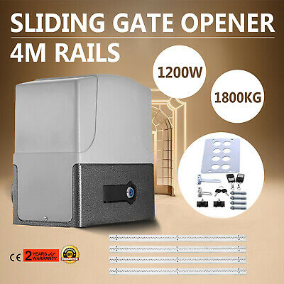 Sliding Electric Gate Opener 1800KG Automatic Motor Remote Kit Heavy Duty 4M