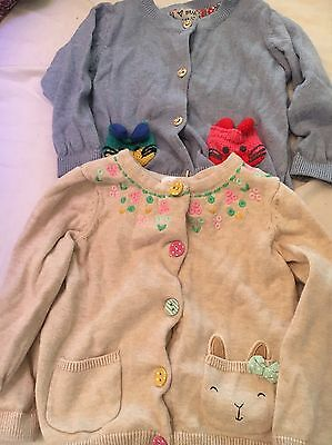 Two Girls Cardigans Next, H & M 9-12 Months