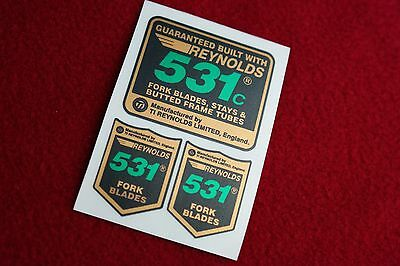 Reynolds 531C English Text Replacement Tube Decal Set For Frame  Restore