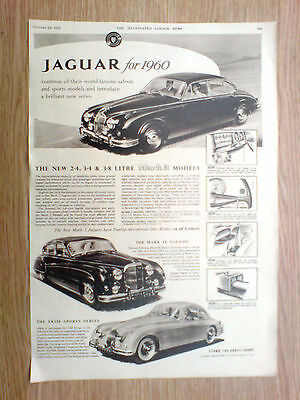 1959 large[14.25x9.5] advert for the jaguars for 1960, earls court