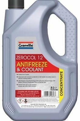 Granville RED Car Antifreeze Summer Coolant Concentrate OAT Long Life 5Litres