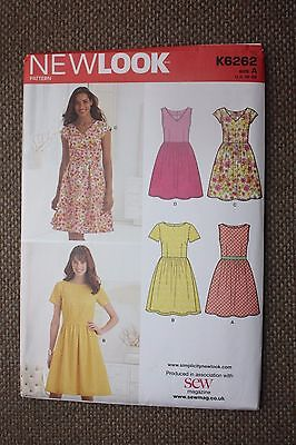 New Look Sewing Pattern Misses Dress Size 10-12-14-16-18-20-22