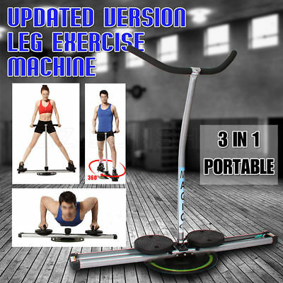 New 3 IN 1 Leg Master Exercise Machine 360°Rotating Slimming Fitness Stepper AU