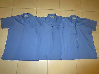 3 x Beare & Ley Blue School Shirts Short Sleeves Size 10