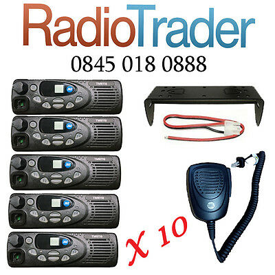 10 X Tait Tm8110 Vhf Mobile Two Way Radios Ideal For Taxi, Farming, Forestry
