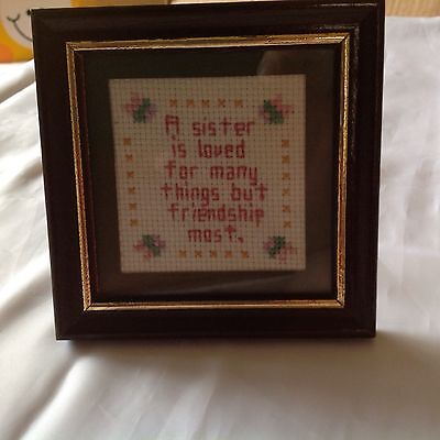 framed tapestry small 4 X 4.  inch