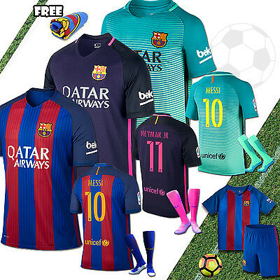 2016-2017 Jersey kits Football Soccer Short Sleeve Kid Boy Youth 3-14yrs + socks