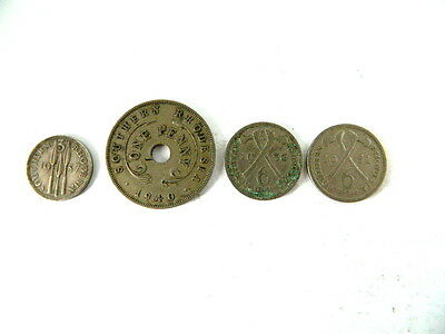 Southern Rhodesia 1937 3 Pence Plus Miced Date Coin Lot