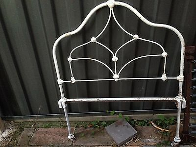 2 Cast Iron Beds One Head Only