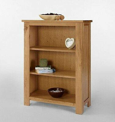 Oak Bookcase Display Shelves Shelving Bookshelf Quality Furniture Collection NEW