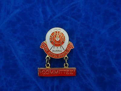 Vintage Badge Menai Hotel Social Club Committee  Burnie Tasmania