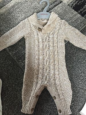 baby boy knitted All In One 0-3 Months