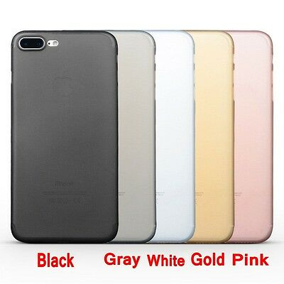 For iPhone 7 7 Plus Ultra-thin Matte Translucent Soft Case Cover Skin Protector