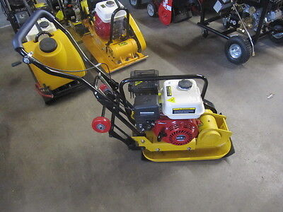 5.5Hp Compactor Plate With Petrol Engine Wacker Plate With Rubber Mat And Wheels