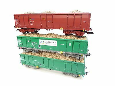 Electrotren Ho Gauge Renfe Wagons With Loads X3 Unboxed (A1)