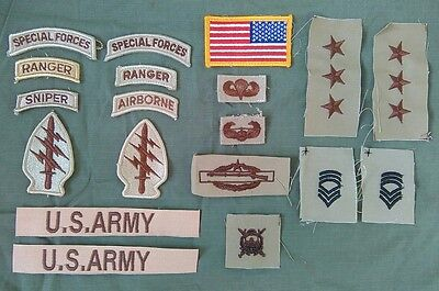 US Army 5th Special Forces Patches Airborne Ranger Sniper Desert SF DCU Combat