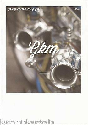 * GREASY KULTURE MAGAZINE #44 triumph harley panhead knuckle GKM DicE*