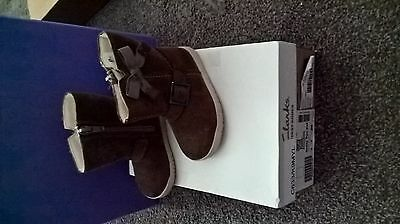 Infant girls clarks brown boots uk 4F