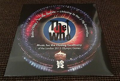 """The Who - London 2012 Olympic Games Closing Ceremony Music 12"""" LP SEALED 0683"""