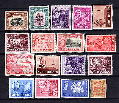Malaya Malaysia Straits Settlements North Borneo Selection Of Mh Stamps