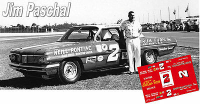 CD_2498 #2 Jim Paschal 1962 Spectrum Furniture Pontiac  1:64 scale decals  ~NEW~