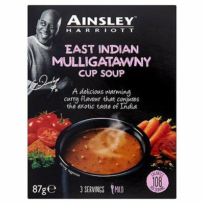 AINSLEY HARRIOTT EAST INDIAN MULLIGATAWNY CUP SOUP 3 x 87g