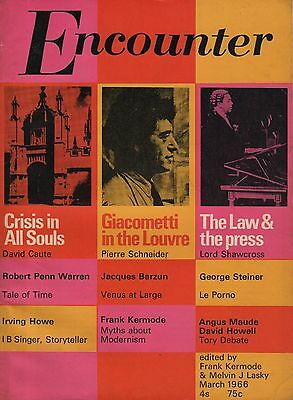 ENCOUNTER MAGAZINE (March 1966) - GIACOMETTI-CRISIS IN ALL SOULS-GEORGE STEINER