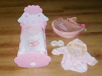 Baby Annabell Doll Bundle Cot, Bag, Dressing Gown/slippers