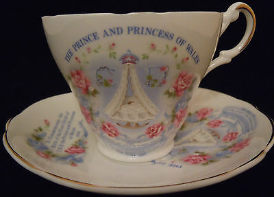 Commemorative Cup and Saucer - Birth of Prince William 1982