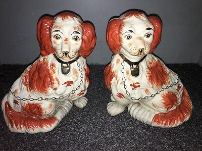 Staffordshire Spaniels Decorative Dogs Pair