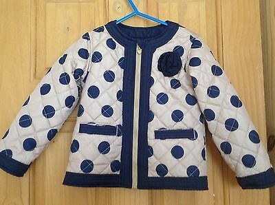 Girls Quilted Jacket, Age 3 - 4 Years.
