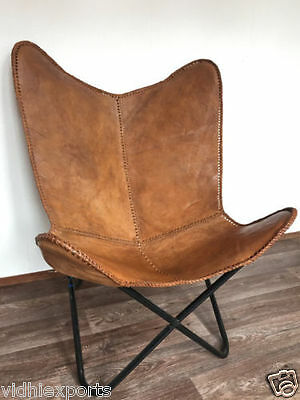 Bkf Beautiful Butterfly Leather Chair Home Decor Modern Seat Furniture Ve522