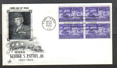 Us Fdc 1953 George S Patton Jr 3C Stamps Ac First Day Of Issue Cover Fort Knox