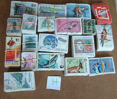 POLAND - bundle of stamps -- H