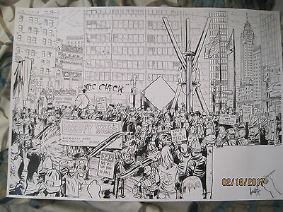 Occupy Wall Street art--- signed by artist  from 2011